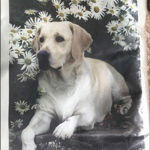Used, Yellow Labrador Retriever FlagNWT for sale